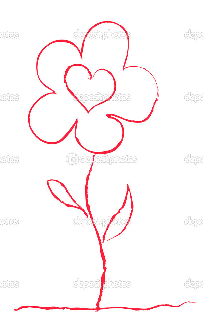 Vector illustration of red flower  Stok Vektr #11695578