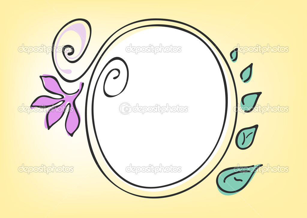Vector illustration of circle frame on a yellow background — Stock Vector #11696844