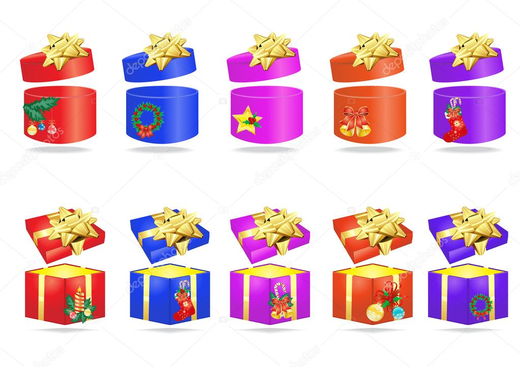 Collection of Christmas colorful presents  Stock Vector #11698439