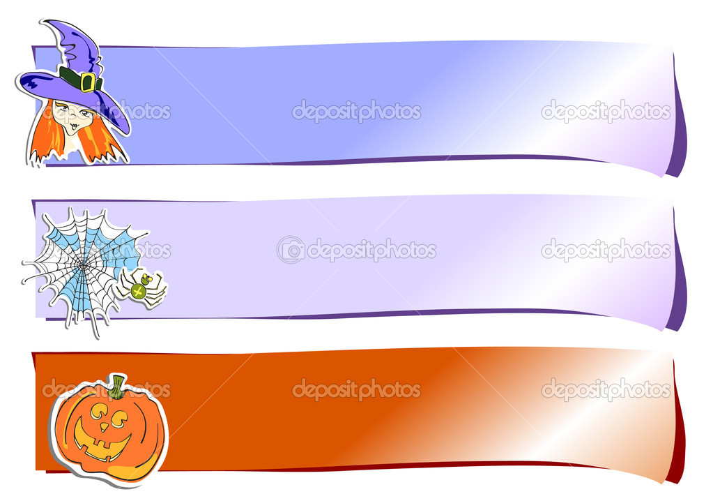 Vector illustration of color horizontal stickers — Stock Vector #11698629