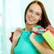 Stock Photo: Smiling customer