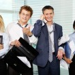 Stock Photo: Office party carried off well