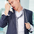 Stock Photo: Tired from calls