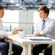 Man-to-man talk — Stock Photo