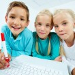 Kids with laptop — Stock Photo #12498990