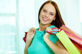 Smiling customer — Stock Photo