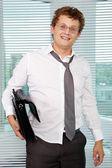 Sloppy businessman — Stock Photo