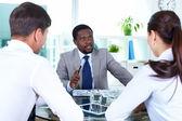 Boss talking — Stock Photo