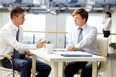 Man-to-man talk — Stock Photo