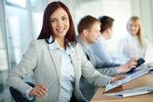 Dame in het bedrijfsleven — Stockfoto