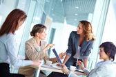 Female brainstorming — Stock Photo