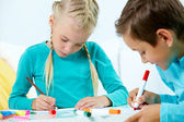 Children drawing — Stock Photo