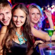 Company of clubbers — Stock Photo