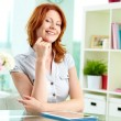 Red-haired beauty - Stock Photo