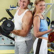 Sporty couple - Stock Photo
