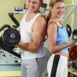 Sporty couple — Stock Photo