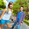 Teen skaters — Stock Photo