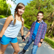Stock Photo: Teen skaters