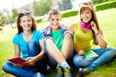 Students at leisure — Stock Photo
