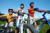 Cyklistický tým — Stock fotografie