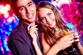Couple of clubbers — Stock Photo