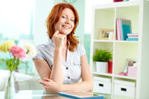 Red-haired beauty — Stock Photo