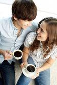 Pití kávy — Stock fotografie