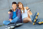 Resting teens — Stock Photo