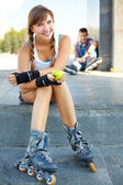 Sporty girl — Stock Photo