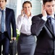 Businesspeople calling — 图库照片