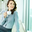 Smiling office girl — Stock Photo