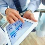 Digital financial data — Stock Photo