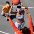 Family basketball — Stock Photo