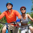 Cycling couple — Stock Photo