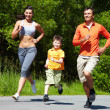 Jogging outdoors - Stockfoto