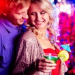 Foto Stock: Flirting at party