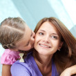 Kiss on the cheek — Stock Photo