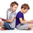 Hi-tech kids - Stockfoto