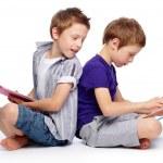 Hi-tech kids — Stock Photo