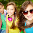 Cheerful teens - Stock Photo