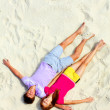 Sleeping on the sand — Stock Photo