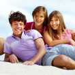Teens on the beach — Stock Photo