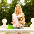 Stock Photo: Woman with pet