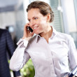 Businesswoman phoning — Stock Photo