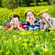 Children on glade — Stock Photo #12518756