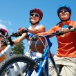 Family on bicycles — Stock Photo #12519201