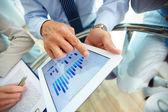 цифровой финансовые данные — Стоковое фото