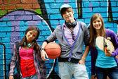 Groupe d'adolescents — Photo