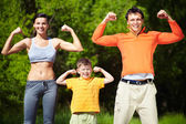 Strong family — Stock Photo