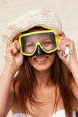 Scuba girl — Stock Photo